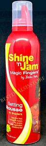 Shine N Jam Magic Fingers For Braiders Extra Firm Hold Setting Mousse 12oz