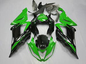Green Black Fairing Kit For Kawasaki Ninja ZX6R 2013-2018 ZX636 ABS Injection 17