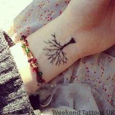 Small Black Tree Temporary Tattoo Fake Transfer Sticker Art Body Sticker