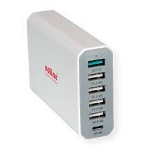 USB Charger 6 Port (4x USB A, 1x USB C, 1x USB A QC3.0), max. 60W