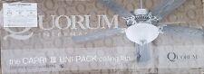 "Quorum 77525-9508 52"" Studio Fan W/ 5 Studio White Blades"