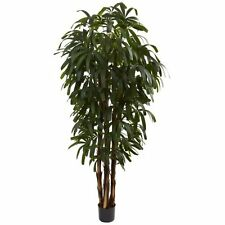 Nearly Natural 5404 Raphis Palm Tree- 6-Feet- Green