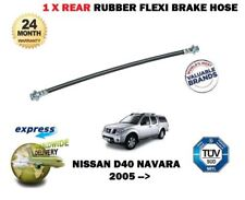 FOR NISSAN NAVARA D40 2.5 3.0 5/2005-> NEW 1 X REAR RUBBER FLEXI BRAKE HOSE