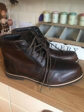 Samuel Windsor Brown Leather Boots Size 14