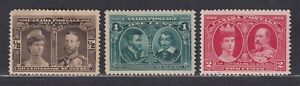 Canada Scott 96-98 MH/MNH 1908 Quebec Tercentenary Issue 3 Stamps ½¢,1¢ & 2¢