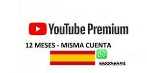 YOUTUBE PREMIUM + YOUTUBE MUSIC? |1 AÑO 12 Euros |100% votes |CONSERVA TU CUENTA
