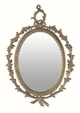 ANTIQUE Oval BOUTIQUE Mirror Wall Hanging STATEMENT Piece HOME DECOR Accessory