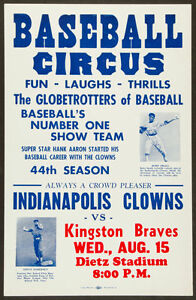 INDIANAPOLIS CLOWNS KINGSTON BRAVES 8X10 PHOTO BASEBALL POSTER PICTURE NEGRO LG