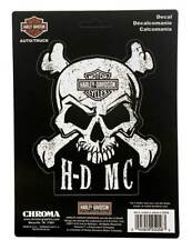 Harley-Davidson Skull & Crossbones Stick Onz Decal Set, 6 x 8 inches CG25056