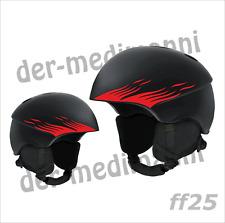 Flammen Aufkleber Mini 4rer SET FF25 Helmaufkleber Bobby Car E-Bike Helm Scooter
