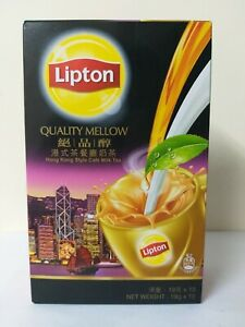 Lipton QUALITY MELLOW Hong Kong Style Cafe Milk Tea (10 Packs in 1 box)