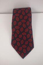 Perry Ellis Portfolio Mens Neck Tie-Red Black 100% Silk