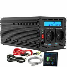 Inversor de potencia de 2000W de 4000W de CC a 12V de CA 220V 230V Convertidor de LCD y 2 USB