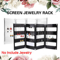 Plastic Earrings Ear Studs Necklace Jewelry Display Stand Rack Holder Foldable