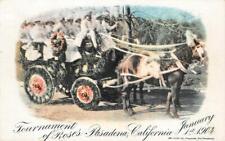 TOURNAMENT OF ROSES Horse-Drawn Parade Float PASADENA, CA 1904 Vintage Postcard
