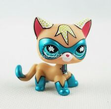 Littlest Pet Shop LPS Shorthair Cat Comic Con Masked Super Hero Kitty Girl Toys