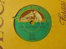 Disque 78 tours La voix de son maître Louis Armstrong Please stop Playing/Blues