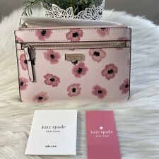 New Kate Spade shore street floating poppies tinie iPhone wristlet Pink Multi