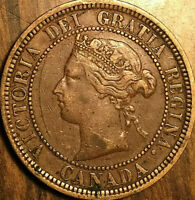 1881H CANADA LARGE CENT PENNY COIN - Dp N variety