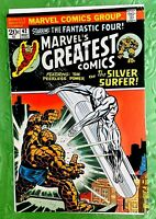 MARVEL MARVEL'S GREATEST COMICS #42 SILVER SURFER VG/FN 5.0 THE THING FREE SHIP