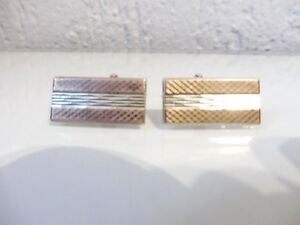ABSOLUTELY STUNNING HANDMADE SPARKLY GRAPHITE SQUARE CUFFLINKS WITH GIFT BAG
