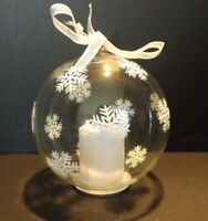 Glass Christmas Ornament with Tea Light