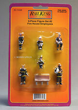 MTH RAILKING (6) PIECE FIGURE SET #2 FIRE HOUSE EMPLOYEES o gauge train 30-11046