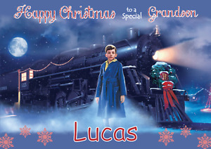 Polar Express Harry Potter personalised A5 Christmas card -ANY- RELATION NAME