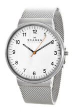 Skagen PRSK1029 Ancher White Dial Mesh Stainless Steel Men's Watch