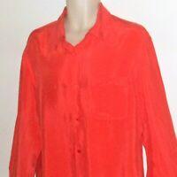 Armani Exchange Mens Shirt L Large Long Sleeve Coral Orange Rayon