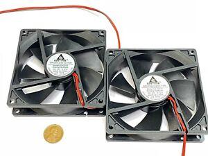 2 Pieces GDSTIME 92mm 25mm DC 12V 2P 9225S PC Computer Cooling Case Fan G15