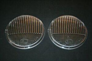 FOR PORSCHE 911 912 MERCEDES SET FOG LIGHT LENSES HELLA NEW 125mm