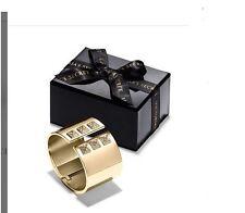 $78 NEW VICTORIA'S SECRET Bracelet Scandalous Gold-tone Cuff Rhinestones Adjust+