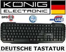 KÖNIG USB TASTATUR PC COMPUTER DEUTSCH MULTIMEDIA / GAMER QWERTZ mit Kabel