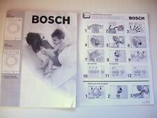 Bosch Axxis+ Washing Machine Owners Manual Washer Wrf2450 & Wrf2460