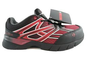 Wolverine Mens Jetstream Athletic Safety Toe Work Shoe Size 7 Red / Black