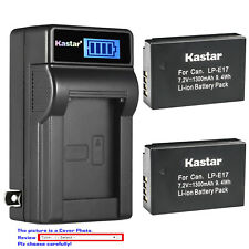 Kastar Battery LCD Wall Charger for LPE17 Canon EOS RP Mirrorless Digital Camera