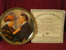 """Knowles Limited Edition """"Love's Reward"""" Norman Rockwell Plate (#1912I) + Cert"""
