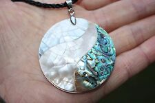 P058 Muschel Perlmutt Perlen Schmuck Anhänger Collier Schnur Halsketten Ketten