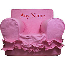 Insert For Pottery Barn Anywhere Chair + Pink Ruffle Cover Reg Embroidered Red