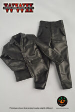1/6 Male Soldier Wwii Black Leather Jacket & Pants F 12' Action Figure