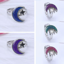 Moon Star Shape Color Change Mood Ring Emotion Feeling Temperature Rings Women