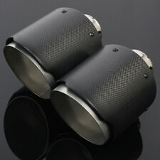 "2PC For Mercedes W203/W204/W205 2""/51mm Inlet/4.5"" Out Carbon Fiber Exhaust Tip"
