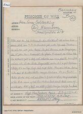 K1007) Kriegsgefangenenpost Italien Brf PWE 9743 Neapel 22.9.46 > Hannover