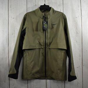 Men's Nike Golf Jacket Convertible Hypershield Rapid Adapt MEDIUM Olive Green