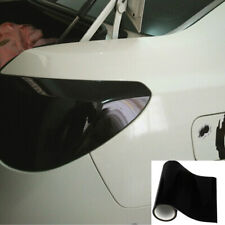 Gloss Dark Black Headlight Taillight Fog Light Vinyl Tint Smoke Film Sheet PVC