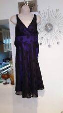 Debenhams Petite Collection ladies dress size 8 black purple