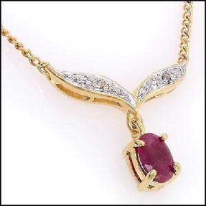 Gorgeous  Ruby and Diamond Necklace