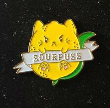 New listing Sourpuss Sour Puss Cat Pin Broach Button #Lcps