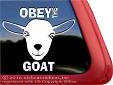 OBEY THE GOAT | High Quality Nigerian Dwarf Goats Window Decal Sticker